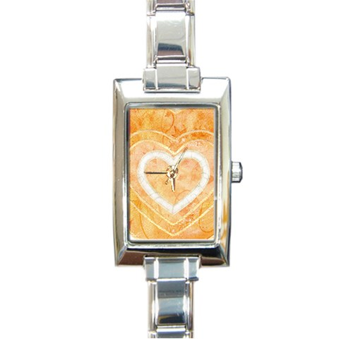 Triple Heart Charm Watch By Catvinnat   Rectangle Italian Charm Watch   M0nmnjpamlvi   Www Artscow Com Front