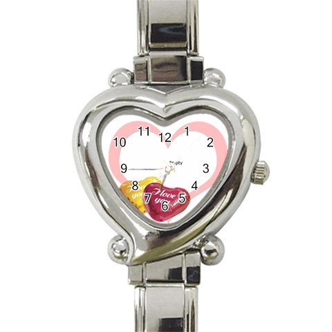 Love Theme By Wood Johnson   Heart Italian Charm Watch   9l1iz0ervqnb   Www Artscow Com Front