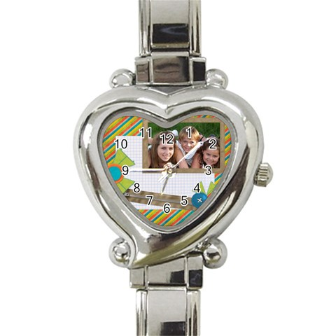 Watch 1 By Leonie   Heart Italian Charm Watch   Ppq0nr4gv40r   Www Artscow Com Front