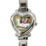watch 1 - Heart Italian Charm Watch