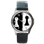 pawnchess792X670 Round Metal Watch