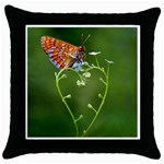 Modern Love Cushion www.CatDesignz.com - Throw Pillow Case (Black)