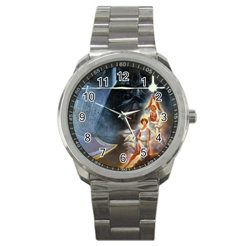 Star Wars Watch By Angela Cole   Sport Metal Watch   Y1elj6ydobm8   Www Artscow Com Front