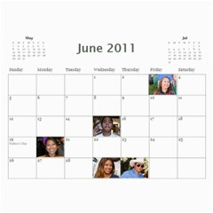 Michelle s Family Calender By Michelle   Wall Calendar 11  X 8 5  (12 Months)   0il0kml1psc4   Www Artscow Com Jun 2011