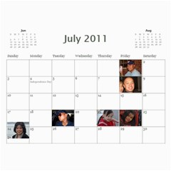 Michelle s Family Calender By Michelle   Wall Calendar 11  X 8 5  (12 Months)   0il0kml1psc4   Www Artscow Com Jul 2011