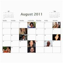 Michelle s Family Calender By Michelle   Wall Calendar 11  X 8 5  (12 Months)   0il0kml1psc4   Www Artscow Com Aug 2011