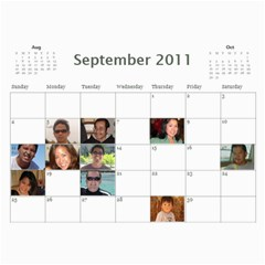 Michelle s Family Calender By Michelle   Wall Calendar 11  X 8 5  (12 Months)   0il0kml1psc4   Www Artscow Com Sep 2011