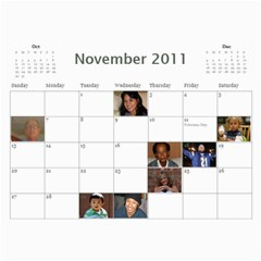 Michelle s Family Calender By Michelle   Wall Calendar 11  X 8 5  (12 Months)   0il0kml1psc4   Www Artscow Com Nov 2011