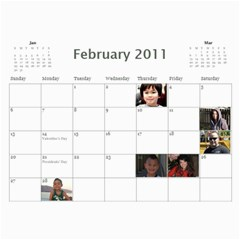 Michelle s Family Calender By Michelle   Wall Calendar 11  X 8 5  (12 Months)   0il0kml1psc4   Www Artscow Com Feb 2011