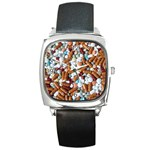 Time to Take Your Pills! - Square Metal Watch