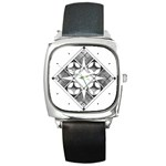 Lithograph - Square Metal Watch