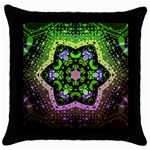 Psychedelic Mandala Throw Pillow Case (Black)