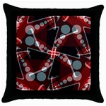 Abstract Art Swirl Throw Pillow Case (Black)
