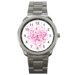 White Love Sport Metal Watch