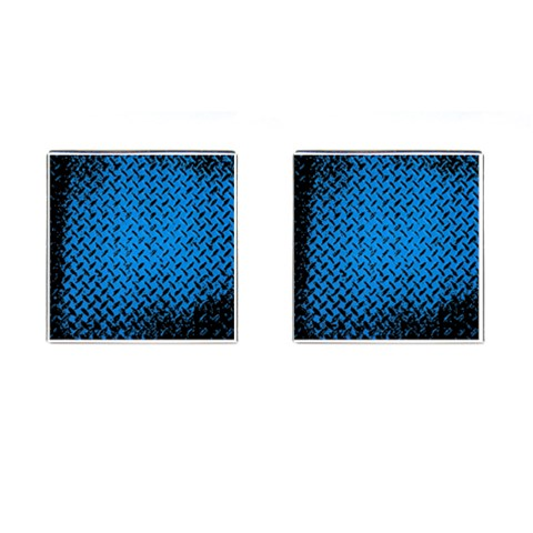 Blue Diamond Plate By Alana   Cufflinks (square)   77g2brzgsuit   Www Artscow Com Front(Pair)