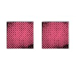 Pink Diamond Plate - Cufflinks (Square)