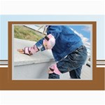 Blue Theme - 5  x 7  Photo Cards