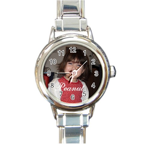 Peanut By Jim Davolt   Round Italian Charm Watch   Fsfi40k0j0as   Www Artscow Com Front