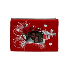 Cosmetic Bag Valentine Love By Laurrie   Cosmetic Bag (medium)   Yu9v3sab5cey   Www Artscow Com Back