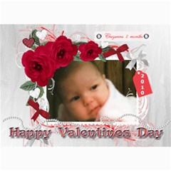 7x5 Photo Card First Valentine By Laurrie   5  X 7  Photo Cards   Vejfeh4bs250   Www Artscow Com 7 x5 Photo Card - 8