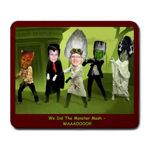 Monster Mash 1 By Christine Carrington   Large Mousepad   Heec6cun0k7f   Www Artscow Com Front