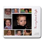 Jayda faces - Large Mousepad