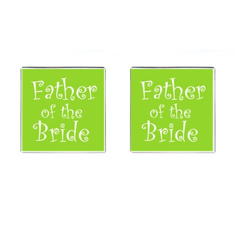 Father Of The Bride Cufflinks Green Www Catdesignz Com By Catvinnat   Cufflinks (square)   Mp9u5ozdshyt   Www Artscow Com Front