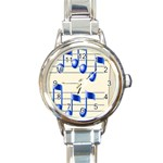 music_notes_2 Round Italian Charm Watch