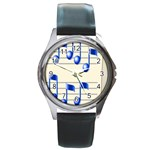 music_notes_2 Round Metal Watch