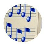 music_notes_2 Ornament (Round)