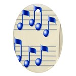 music_notes_2 Ornament (Oval)