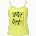 music_notes_2 Yellow Spaghetti Tank