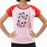 music_notes_2 Women s Cap Sleeve T-Shirt