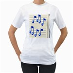 music_notes_2 Women s T-Shirt