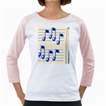 music_notes_2 Girly Raglan