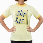 music_notes_2 Women s Fitted Ringer T-Shirt