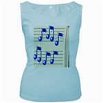 music_notes_2 Women s Baby Blue Tank Top
