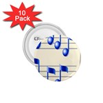 music_notes_2 1.75  Button (10 pack)