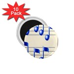 music_notes_2 1.75  Magnet (10 pack)