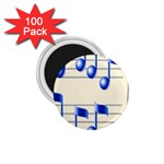music_notes_2 1.75  Magnet (100 pack)