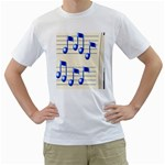 music_notes_2 White T-Shirt