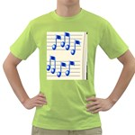 music_notes_2 Green T-Shirt