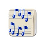 music_notes_2 Rubber Square Coaster (4 pack)