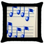 music_notes_2 Throw Pillow Case (Black)