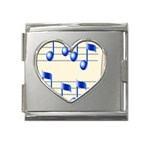 music_notes_2 Mega Link Heart Italian Charm (18mm)