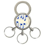 music_notes_2 3-Ring Key Chain