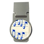 music_notes_2 Money Clip (Round)