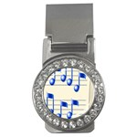 music_notes_2 Money Clip (CZ)