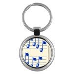 music_notes_2 Key Chain (Round)
