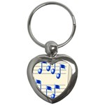 music_notes_2 Key Chain (Heart)
